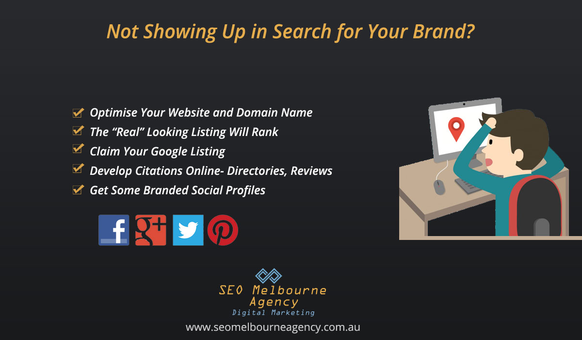 reasons why my business website does not show for branded searches