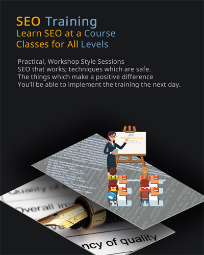 infographic of SEO training in Melbourne