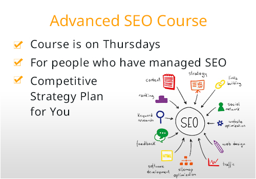 advanced SEO training course inclusions