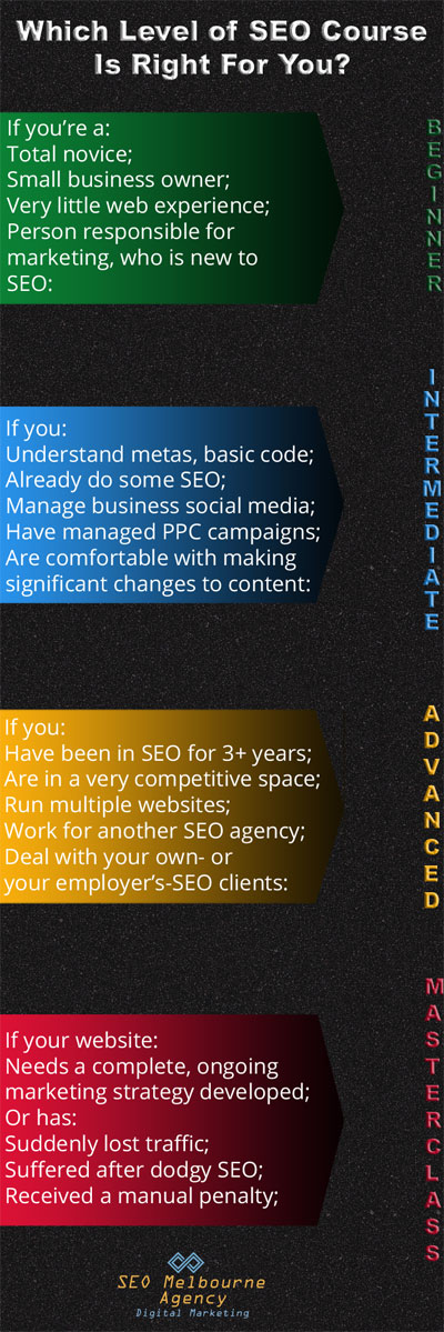 select the best seo course for your ability level