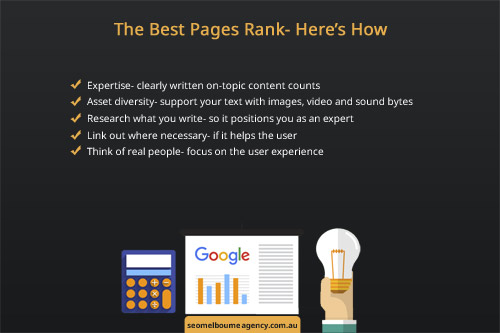 search engines attempt to rank pages using a series of assessment metrics