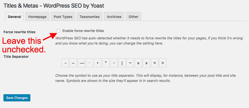 the best setting for 'force rewrite' field in Yoast WordPress